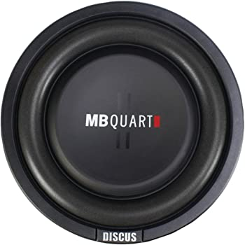 MB Quart DS1-204 Discus Shallow Mount Subwoofer (Black) – 8 Inch Subwoofer, 400 Watt, Car Audio, 2 Inch Voice Coils, UV Rubber Surround, Best in Sealed Enclosures
