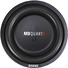 MB Quart DS1-204 Discus Shallow Mount Subwoofer (Black) – 8 Inch Subwoofer, 400 Watt, Car Audio, 2 Inch Voice Coils, UV Ru...