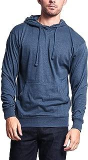 G-Style USA Men's Cross-Dyed Heather Jersey Lightweight Pullover Hoodie Sweatshirt