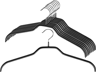 Mawa by Reston Lloyd Silhouette Series Non-Slip Space Saving Clothes Hanger for Shirts and Dresses, Style 41/F, Set of 10,...