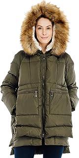a7d41417382 Valuker Women's Down Coat With Fur Hood 90% Down Parka Puffer Jacket