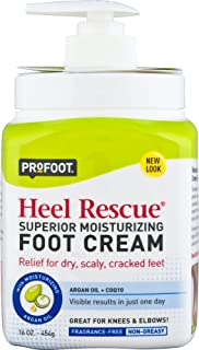PROFOOT Heel Rescue Foot Cream 16 oz, Non-Greasy Foot Cream Ideal for Cracked Skin Calloused Skin or Chapped Skin on Feet Heels Elbows and Knees, Penetrates Moisturizes and Repairs
