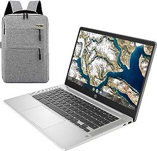 2021 HP Chromebook 14インチフルHD 1080Pラップトップ、Intel Celeron N4000デュアルコアプロセッサー、4 GB LPDDR4、32 GB eMMCストレージ、ウェブカメラ、WiFi 5、クロームOS/...