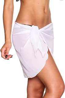 THE MESH KING Coqueta Swimwear Womens Chiffon Cover up Beach Sarong Pareo Canga Swimsuit Wrap