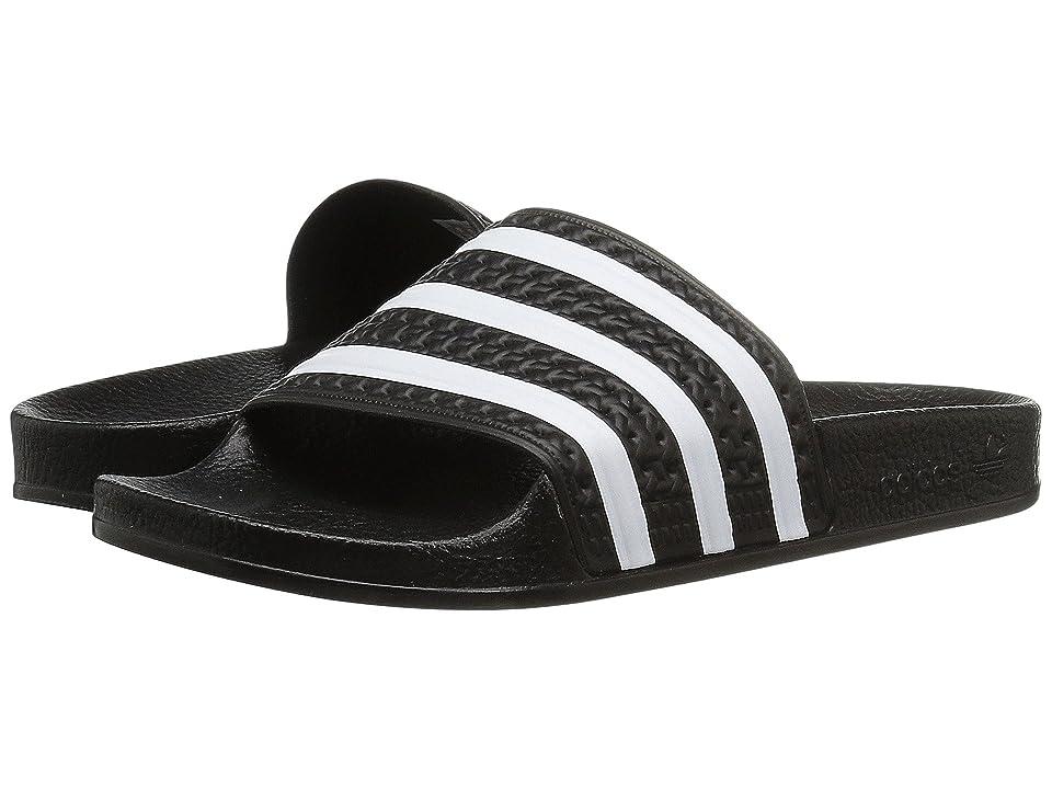 adidas Originals Kids Adilette (Little Kid/Big Kid) (Core Black/Footwear White/Core Black) Kids Shoes