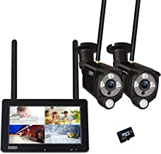 "[2-Way Audio]Tonton 1080P Portable LCD Security Camera System Wireless with 7"" IPS Touchscreen Monitor,4CH NVR Kit and 2PC..."