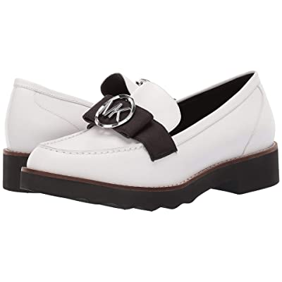 MICHAEL Michael Kors Aden Loafer (Optic White Vachetta/Grosgrain) Women