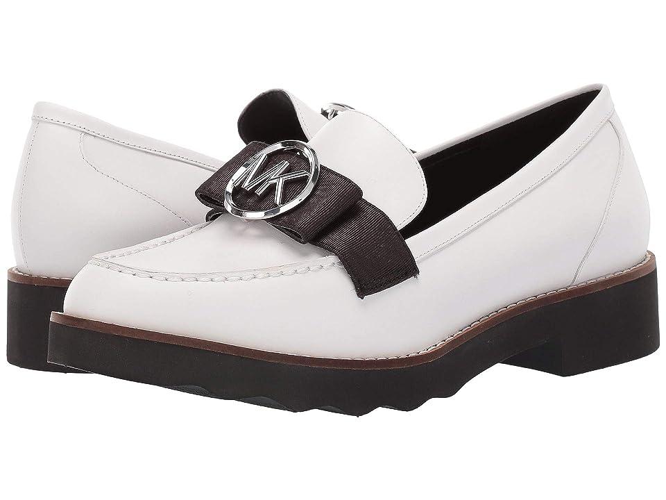 MICHAEL Michael Kors Aden Loafer (Optic White Vachetta/Grosgrain) Women