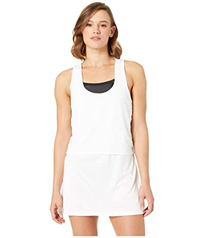 Nike Sport Mesh Reversible Layered Dress Cover-Up (White) Women