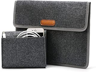 "13-13.3 Inch Laptop Sleeve Case Bag Compatible MacBook Pro 2012-2015 Retina/MacBook Air 2010-2017/12.9"" iPad Pro, Dark Gray"