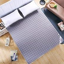 Cotton Mattress Topper,Thin Mattress Protector,Non-Slip Mattress Pads Topper,Elastic Straps,Super Soft and Foldable,Conven...