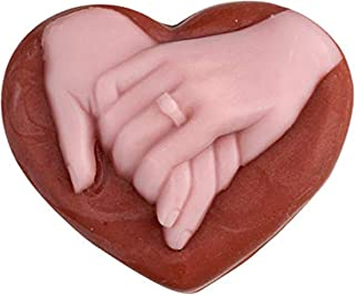 UG LAND INDIA Silicone Soap Mold Love Heart Shape with Handshake Pattern for Natural Handmade Chocolate Candy Mould