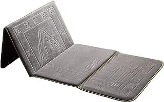 Kinsky Prayer Rug,Turkish Folder Prayer Rugs Janamaz Muslim Prayer Mat Ramadan (Silver Grey)