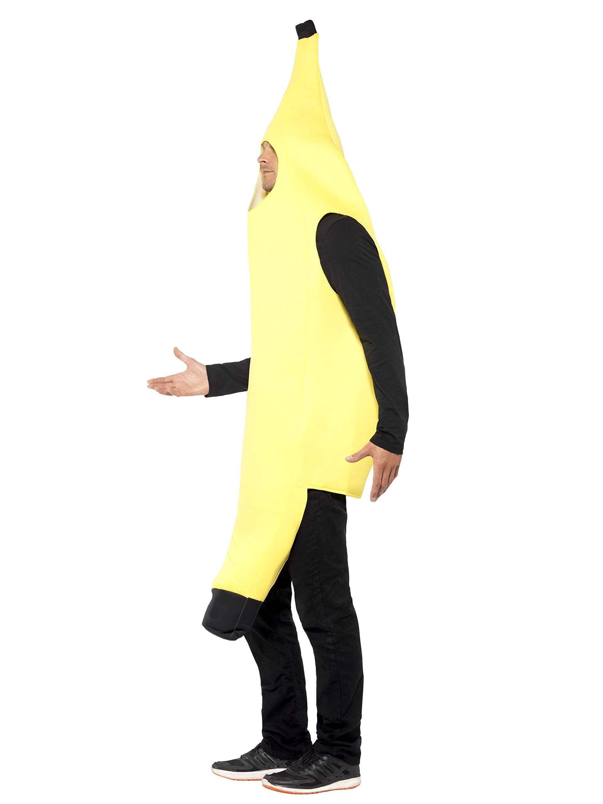 Smiffys Smiffys-30468 Disfraz de banana, enterizo, color amarillo ...