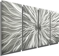 Abstract Silver Metal Wall Art Sculpture - Multi-Panel Modern Home Décor Static by Jon Allen