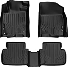 SMARTLINER Custom Fit Floor Mats 2 Row Liner Set Black for 2016-2019 Honda Civic Sedan or Hatchback