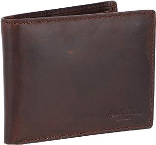"Gusti Leder studio - Portafoglio""Pawel"" portafoglio da uomo portamonete in vera pelle di bufalo nera in stile vintage RFID..."