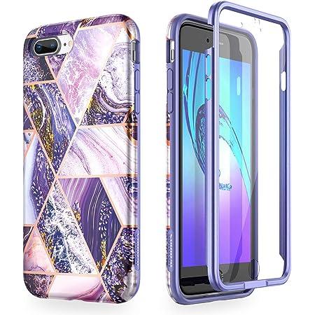 SURITCH Coque iPhone 7/8 Plus Silicone 360 Degrés Souple Slim Integrale Antichoc Qui Protege Bien Avant et Arrière Etui Case Cover Housse iPhone 7/8 ...