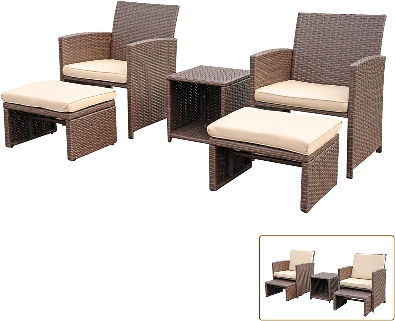 OC Orange-Casual 5 Pcs Patio San Jose Mall 2021new shipping free shipping Conversation Furniture Balcony Set