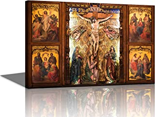 TUMOVO Large Christian Crosses Cross Wall Art Christ Poster Canvas Prints Home Decor for Bedroom Living Room Pictures Decals HD Printed Painting Artwork Framed Ready to Hang(16''X24'')