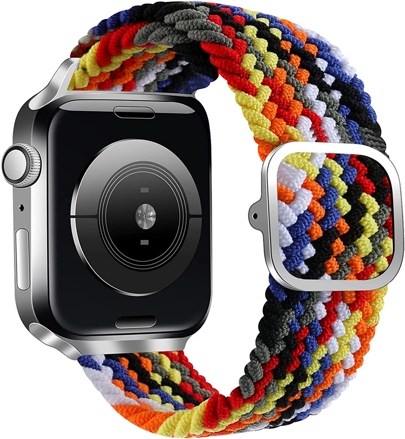 LKEITY Stretchy Sport Bands Compatible with Braided Solo Loop Apple Watch Band 38mm 40mm 42mm 44mm, Adjustable Stretchable Elastics Nylon Soft Strap for iWatch Series 6/5/4/3/2/1/SE
