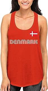 SpiritForged Apparel Denmark Soccer Jersey Women's Racerback Tank Top
