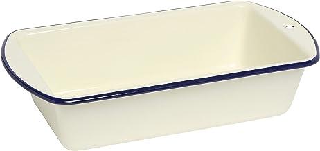 Wiltshire Enamel Loaf Pan, 23cm, Blue Rim