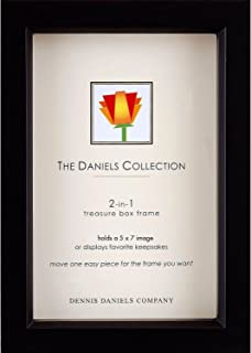 Dennis Daniels Ebony-stain 5x7 shadow box for your print or collectibles - 5x7-black