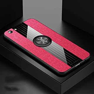 Mobile Phone Protective Case Compatible for OPPO A57 XINLI Stitching Cloth Textue Shockproof TPU Protective Case with Ring...