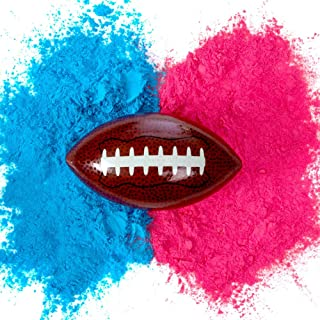 Gender Reveal Football with Both Pink & Blue Powder | Baby Boy or Girl Gender Reveal American Footballs with Voting Stickers