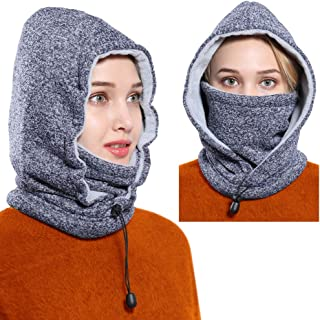Ski Face Mask Women Men Balaclava Fleece Hood Winter Face Mask Head Warmer Face Warmer for Snowboarding Cycling Dog Walking