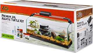 Zilla Premium Rimless Aquatic Turtle Habitat Kit, 20 Gallon Long