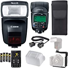 Canon Speedlite 470EX-AI Flash + Speedlite Case + 4 High Capacity AA Rechargeable Batteries and Charger + Flash L Bracket + TTL Cord