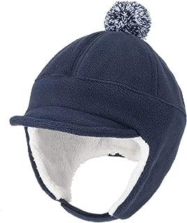Home Prefer Toddler Boys Winter Hat with Earflaps Fleece Baseball Hat Visor Caps