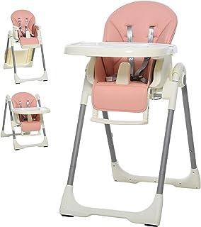 Abnehmbares Tablett Komfort Polster Baby Gr/ün Hochstuhl Baby Kinderhochstuhl Babystuhl 4-in-1 Kinderstuhl Essstuhl Verstellbar und Klappbar
