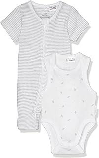 Purebaby S/Slv Growsuit Bodysuit Pack