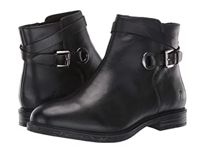 Hush Puppies Bailey Strap Boot (Black Leather) Women