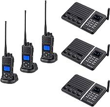 2 Way Radio 5 Watt Long Range 20 Channel Walkie Talkie (3 Packs) + Wireless Intercom System Build-in 2200mAh Battery Call Function Baby Elder Monitor (3 Packs)