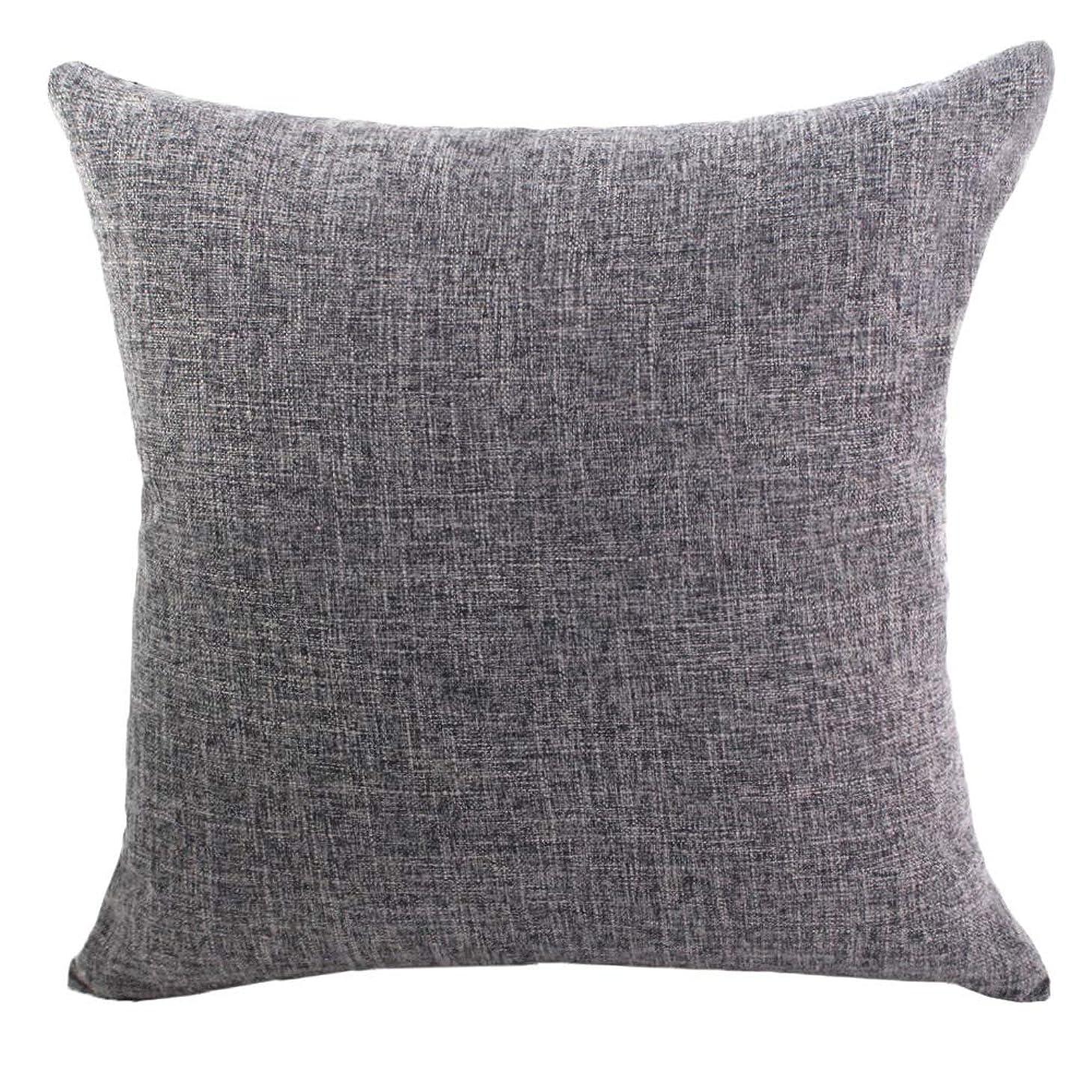 素人完全に乾く分解するK&T クッションカバー ホーム 綿麻 亜麻製 ピローケース インテリア おしゃれ 通気性 洗える 枕カバー 車に ソファ ソファー ベッド 飾り 背当て抱き枕カバー