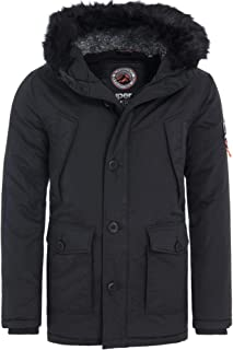 mens superdry everest parka jacket black