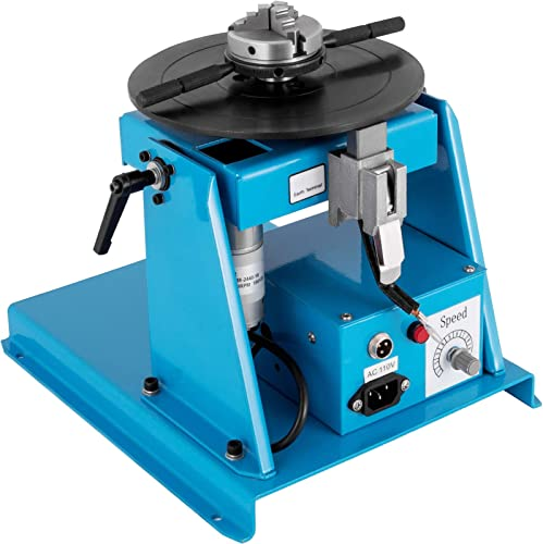 wholesale Mophorn sale 10KG Rotary Welding Positioner Turntable Table 110V Mini 0 to 90° Welding Positioner new arrival Positioning Turntable 2.5 Inch 3 Jaw Lathe Chuck 180mm Portable Welder Positioner Turntable Machine online sale