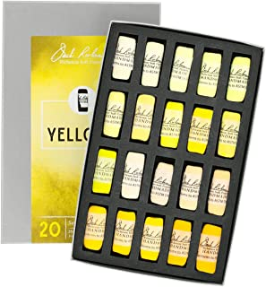 Jack Richeson 20 Piece Color Value Yellows Hand Rolled Soft Pastel Set
