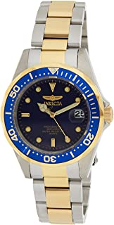 Invicta Men's Pro Diver 37.5mm Steel and Gold Tone Stainless Steel Quartz Watch, Two Tone/Blue (Model: 8935)