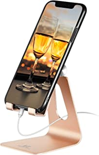 Adjustable Cell Phone Desk Stand - ToBeoneer Phone Holder [Updated Thicker] Cradle Dock Compatible with All Mobile Phones ...