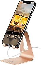 پایه ایستاده تلفن همراه قابل تنظیم - دارنده تلفن ToBeoneer [به روز شده ضخیم تر] Cradle Dock سازگار با تمام تلفن های همراه سامسونگ iPhone X 8 7 6 6s به علاوه شارژ ، میز لوازم جانبی دفتر خانه - طلا