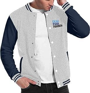 Mens & Womens Classic Dear Evan Hansen Jacket Baseball Jacket with Long Sleeve Banded Collar XL