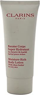 Clarins Moisture-Rich Body Lotion with Shea Butter for Dry Skin, 3.2 Ounce