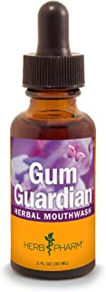 Herb Pharm Gum Guardian Herbal Mouthwash for Healthy Mouth and Gums, Organic, 1 Fl Oz (Pack of 1)