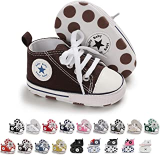 Tutoo Unisex Baby Boys Girls Star High Top Sneaker Soft...