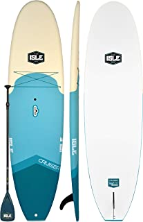 "ISLE 10'5 Cruiser Rigid Soft Top Paddle Board Package | 32"" Wide x 4.5"" Thick Extra Stable SUP 